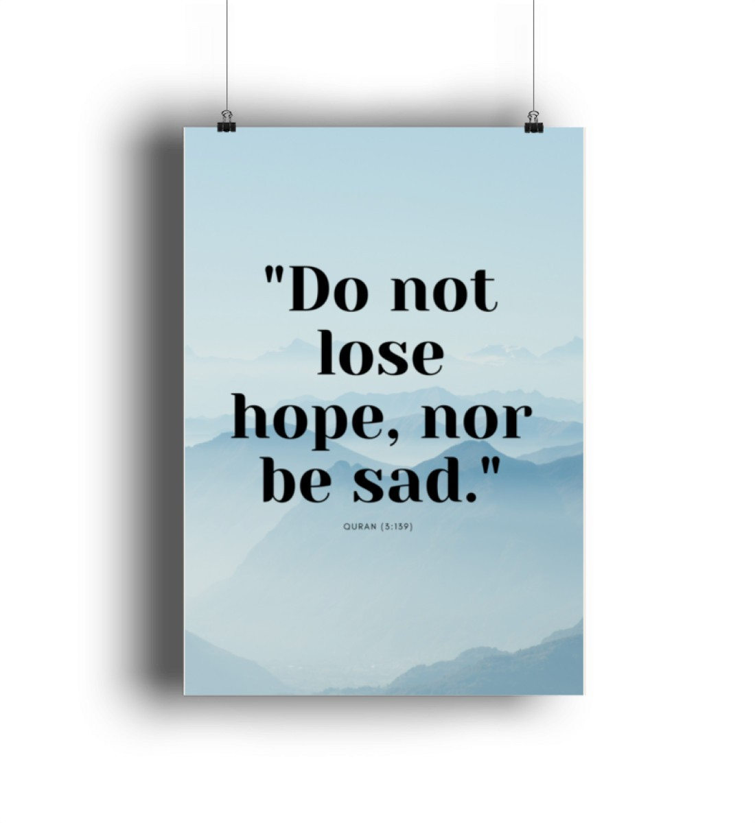 Don´t lose hope, nor be sad / Islam - Poster-6864